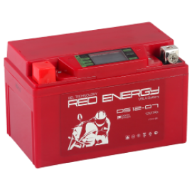АКБ Red Energy DS 12-07, 7 Ач, 12 В, 110 А, 150х86х94 мм, YTX7A-BS