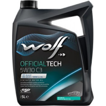 Моторное масло Wolf Official Tech 5W-30 C3 5л