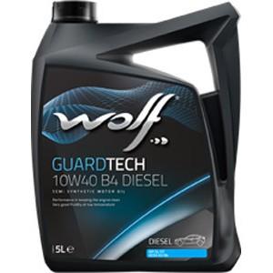 Моторное масло Wolf Guard Tech 10w-40 B4 Diesel 5л