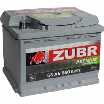 Zubr Premium (63 A/h), 550А R+