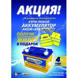 АКОМ+EFB акция! Купить аккумулятор «АКОМ+EFB»  стало еще выгоднее – каждый покупатель получает подарок!