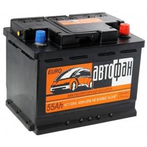Аккумулятор AKOM Автофан 6CT-55e (55 A/h)